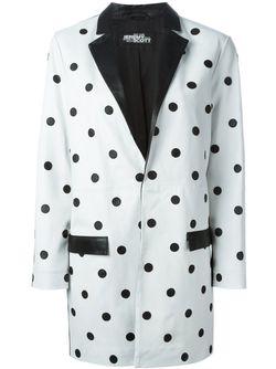 Пальто В Горох Jeremy Scott                                                                                                              белый цвет