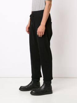 Embroidered Drop Crotch Track Trousers 11 BY BORIS BIDJAN SABERI                                                                                                              черный цвет
