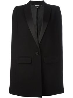 Satin Peak Lapel Cape DKNY                                                                                                              чёрный цвет