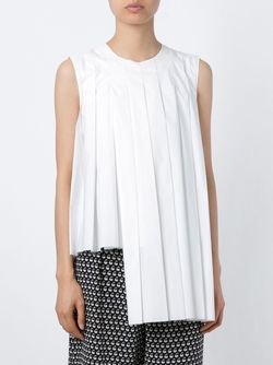 Pleated Sleeveless Top Marni                                                                                                              белый цвет