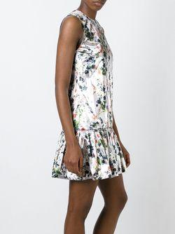 Платье С Цветочным Принтом Markus Lupfer                                                                                                              серебристый цвет