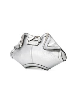 Клатч De Manta Alexander McQueen                                                                                                              серебристый цвет