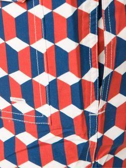 Шорты Для Плавания С Геометрическим Принтом TIMO TRUNKS                                                                                                              красный цвет