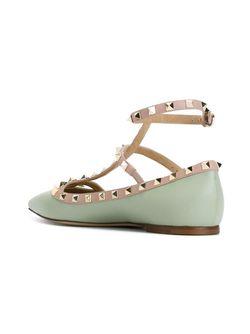 Rockstud Ballerinas Valentino Garavani                                                                                                              зелёный цвет