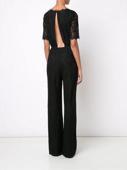 Кружевной Комбинезон Diane Von Furstenberg                                                                                                              черный цвет