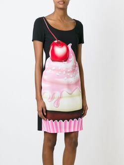 Платье С Принтом Сливок И Вишни BOUTIQUE MOSCHINO                                                                                                              чёрный цвет