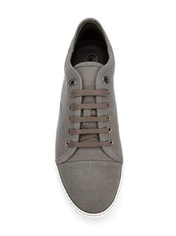 Classic Lace-Up Sneakers Lanvin                                                                                                              серый цвет