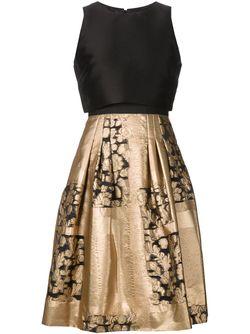 Жаккардовая Юбка С Цветочным Узором Carolina Herrera                                                                                                              чёрный цвет