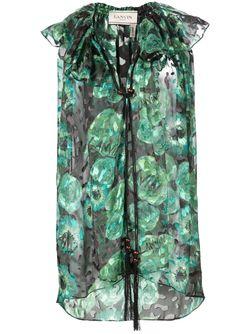 Print Sleeveless Top Lanvin                                                                                                              зелёный цвет