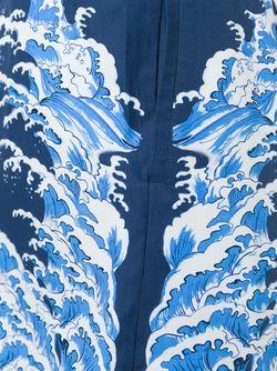Шорты Для Плавания С Принтом Волн Alexander McQueen                                                                                                              синий цвет