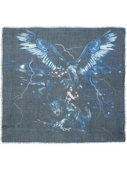 Eagle Motif Scarf Diesel                                                                                                              синий цвет