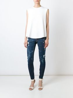 Paint Spattered Jeans Dsquared2                                                                                                              синий цвет