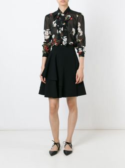 Sheer Print Blouse Red Valentino                                                                                                              чёрный цвет