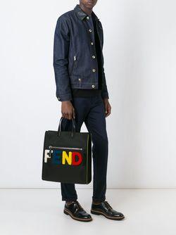 Сумка-Тоут С Логотипом Fendi                                                                                                              черный цвет