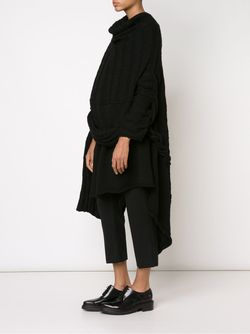 Асимметричный Свитер Yohji Yamamoto                                                                                                              черный цвет