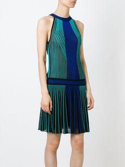 Платье Без Рукавов С Геометрическим Узором Roberto Cavalli                                                                                                              черный цвет