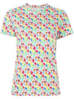 Floral Print T-Shirt Au Jour Le Jour                                                                                                              многоцветный цвет