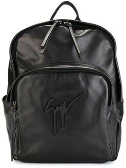 Рюкзак С Подписью-Логотипом Giuseppe Zanotti Design                                                                                                              черный цвет