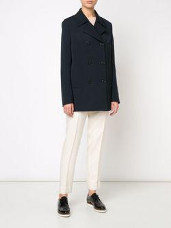 Пальто Со Встречной Складкой Maison Margiela                                                                                                              синий цвет