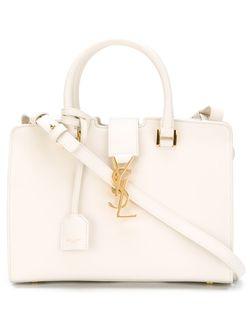 Мини Сумка-Тоут Cabas Monogram Saint Laurent                                                                                                              белый цвет