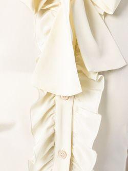 Блузка С Рюшами Red Valentino                                                                                                              белый цвет