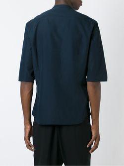 Three-Quarter Sleeve Shirt Giorgio Armani                                                                                                              синий цвет