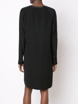 Платье С V-Образным Вырезом Vince                                                                                                              чёрный цвет