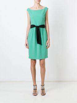 Платье С Вырезом-Лодочкой BOUTIQUE MOSCHINO                                                                                                              зелёный цвет