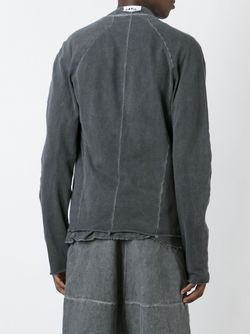 Off Centre Zip Sweatshirt LOST AND FOUND ROOMS                                                                                                              серый цвет