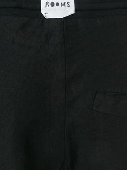 Брюки С Заниженной Проймой LOST AND FOUND ROOMS                                                                                                              черный цвет