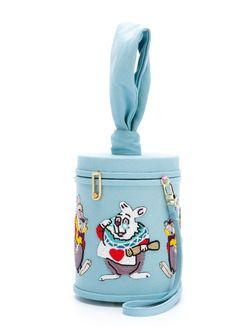 White Rabbit Shoulder Bag Olympia Le-Tan                                                                                                              синий цвет