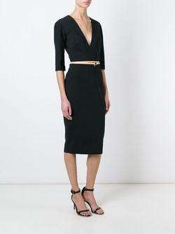 Платье C V-Образным Вырезом Victoria Beckham                                                                                                              черный цвет