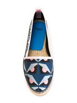 Эспадрильи С Узором Fendi                                                                                                              синий цвет