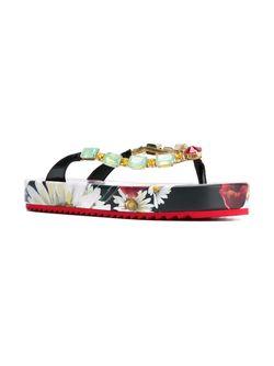 Декорированные Вьетнамки На Платформе Dolce & Gabbana                                                                                                              многоцветный цвет