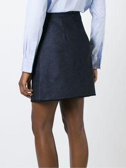 Джинсовая Юбка А-Силуэта Victoria, Victoria Beckham                                                                                                              синий цвет