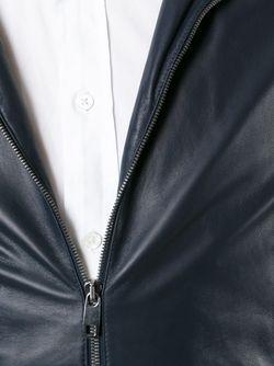 Кожаная Куртка С Капюшоном Dolce & Gabbana                                                                                                              синий цвет