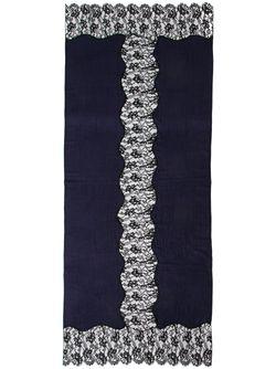 Шарф С Кружевными Вставками K. JANAVI                                                                                                              синий цвет