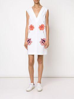 Платье С Цветочным Принтом Stella Mccartney                                                                                                              белый цвет