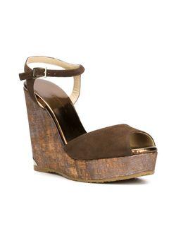 Perla 120 Sandals Jimmy Choo                                                                                                              коричневый цвет