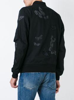 Куртка-Бомбер С Аппликацией Бабочек Valentino                                                                                                              чёрный цвет