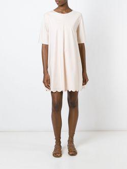 Платье Шифт С Волнистым Подолом See By Chloe                                                                                                              розовый цвет