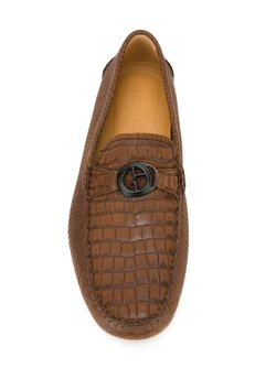 Лоферы С Тиснением Giorgio Armani                                                                                                              коричневый цвет