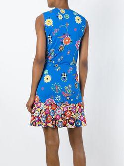 Платье Без Рукавов С Цветочным Принтом Emilio Pucci                                                                                                              синий цвет