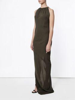 Вечернее Платье Без Рукавов Rick Owens                                                                                                              зелёный цвет