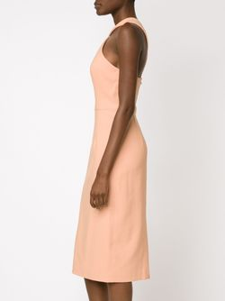 Фактурное Облегающее Платье CHRISTIAN SIRIANO                                                                                                              белый цвет