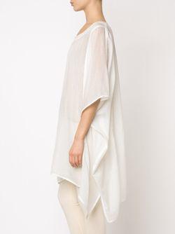 Легкое Пончо Denis Colomb                                                                                                              белый цвет