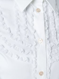 Рубашка С Рюшами Red Valentino                                                                                                              белый цвет