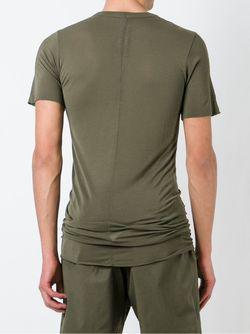 Удлиненная Футболка Rick Owens                                                                                                              зелёный цвет