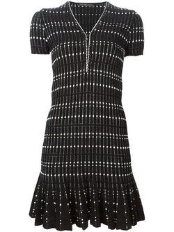 Платье Мини С Узором Alexander McQueen                                                                                                              черный цвет