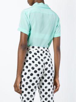Блузка С Бантом Moschino                                                                                                              зелёный цвет